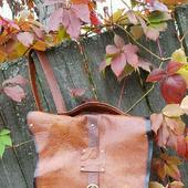 """Рюкзак из натуральной кожи рыжий """"Salfedjio"""""""