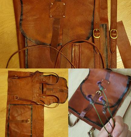 """Рюкзак из натуральной кожи рыжий """"Salfedjio"""" ручной работы на заказ"""
