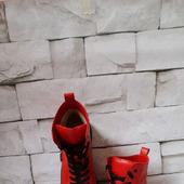 Кеды кожаные красные