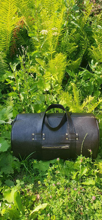 Спортивная мужская дорожная сумка из кожи ручной работы на заказ