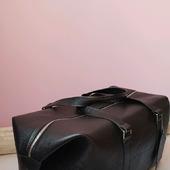 Спортивная дорожная кожаная сумка для боксера или фитнеса из кожи