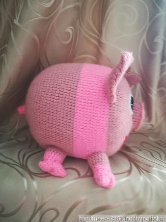 """Диванная подушка """"Свинка"""" ручной работы на заказ"""