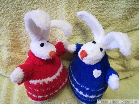 Заяц в свитерочке ручной работы на заказ