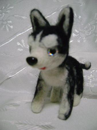 Собачка породы Хаски ручной работы на заказ