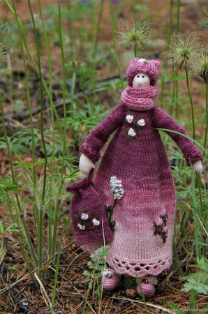 Текстильная кукла Арина ручной работы на заказ
