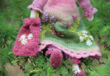 Текстильная кукла Есения ручной работы на заказ