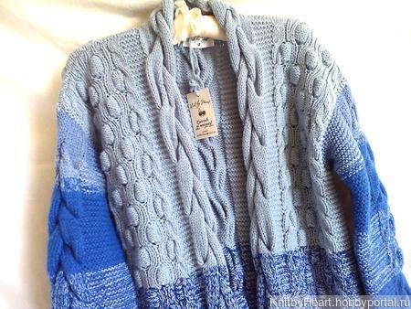 """Дизайнерский кардиган """"SEA"""" от Knit by Heart в Москве ручной работы на заказ"""
