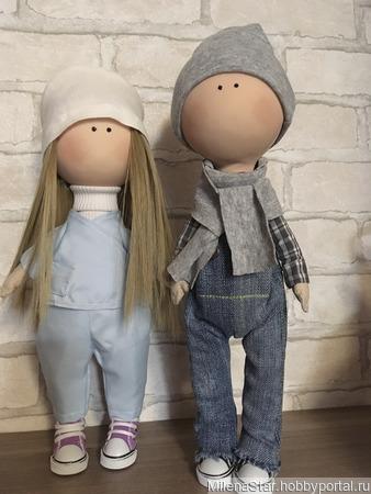 Текстильная кукла для интерьера ручной работы на заказ