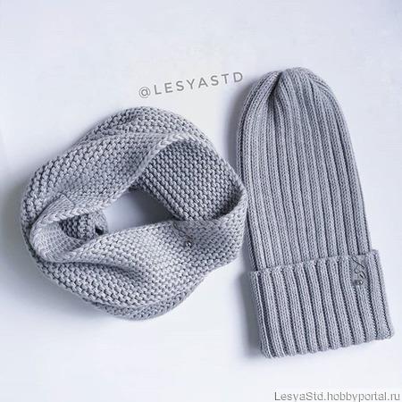 Комплект шапка+снуд ручной работы на заказ