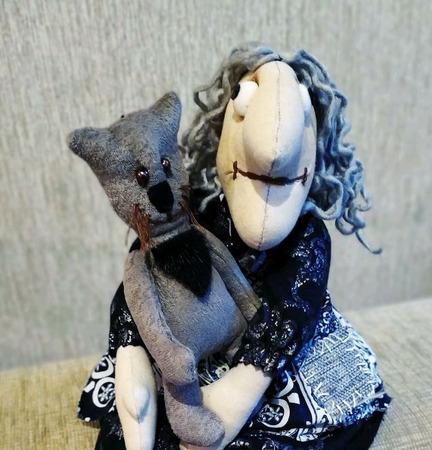 Бабка Ёжка с котом ручной работы на заказ