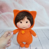 Кукла вязаная в пижаме