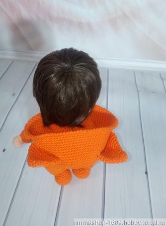 Кукла вязаная в пижаме ручной работы на заказ