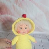 Кукла вязаная в пижаме 2
