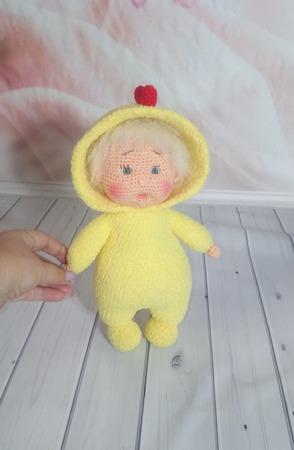 Кукла вязаная в пижаме 2 ручной работы на заказ