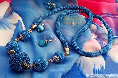"""Комплект """"Голубая лагуна"""" ручной работы на заказ"""