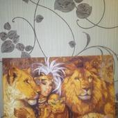 """Картина """"Девушка и львы"""""""
