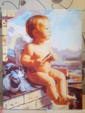 """Картина """"Маленький ангел"""" ручной работы на заказ"""