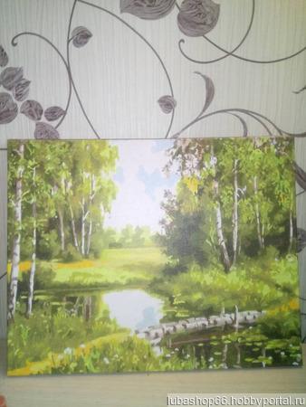 """Картина """"Русские берёзки"""" ручной работы на заказ"""