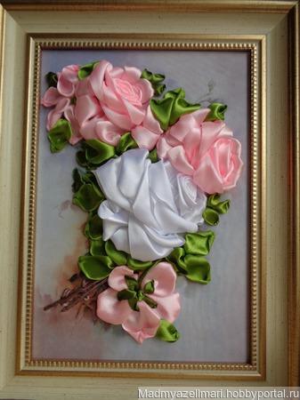 """Картина """"Ветка розы"""" ручной работы на заказ"""