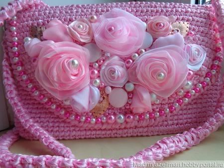 """Сумочка-клатч """" Розы"""" ручной работы на заказ"""