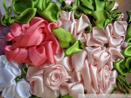 """Интерьерная картина """"Кувшин и розы"""" ручной работы на заказ"""