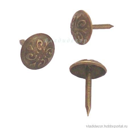 Гвоздь обивки мебельный крепёж М-258 декор ручной работы на заказ