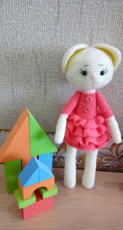 Детская игрушка кошечка ручной работы на заказ