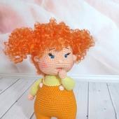 Кукла вязаная кудрявая