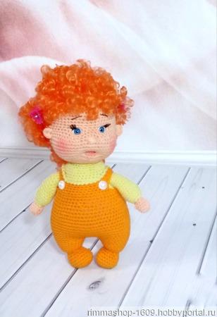 Кукла вязаная кудрявая ручной работы на заказ