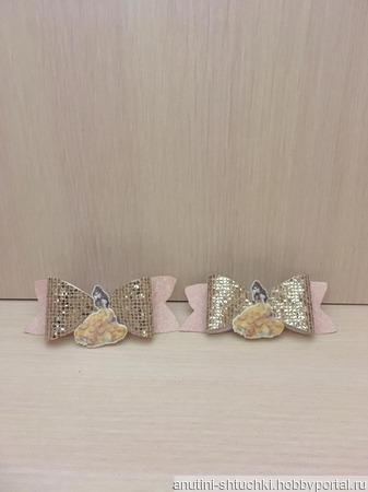 Бантики с принцессой на резинках ручной работы на заказ