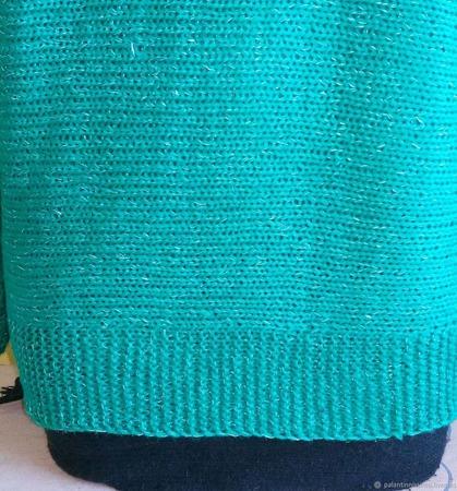Мастер-класс  по вязанию  джемпера из кашемира, связанного поперек ручной работы на заказ