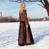 Шерстяная юбка в стиле пэчворк зимняя