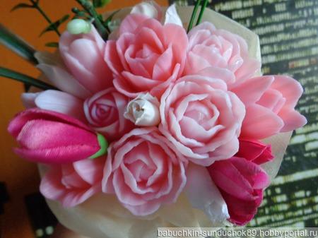 """Сувенирное мыло """"Букет тюльпанов"""" ручной работы на заказ"""