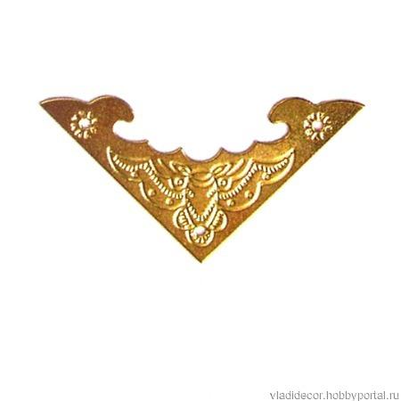 Уголки декор шкатулки Ф-15 бронза золото ручной работы на заказ