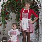Фартуки для мамы и дочки