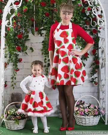 Фартуки для мамы и дочки ручной работы на заказ