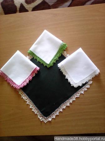 Платочки кружевные ручной работы на заказ