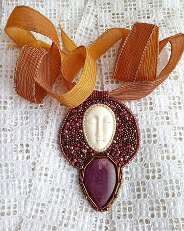 """Кулон """"Марево"""", украшения с рубином ручной работы на заказ"""