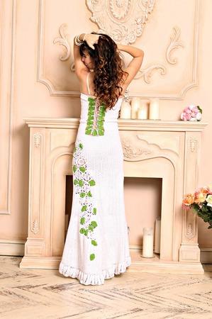 """Платье """"White rose"""" ручной работы на заказ"""