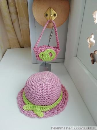 Шляпка и сумочка ручной работы на заказ