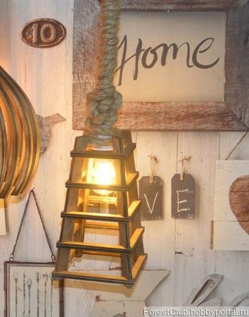 Декоративный фонарик пирамида ручной работы на заказ
