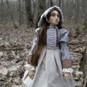 Кукла Моника Шарнирно-текстильная