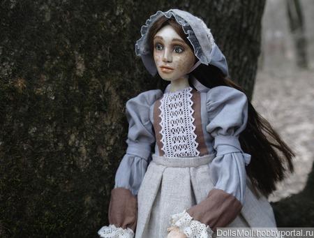 Кукла Моника Шарнирно-текстильная ручной работы на заказ