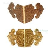Угол накладка коробки М-79 бронза золото