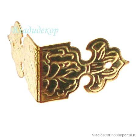 Угол накладка коробки М-79 бронза золото ручной работы на заказ