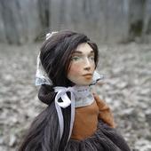 Куколка Мила в смешанной технике