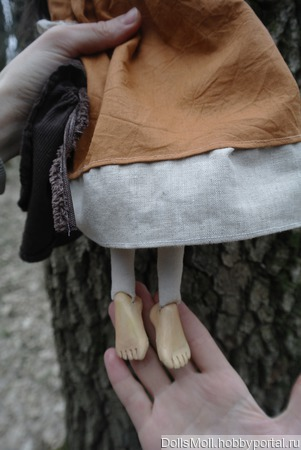 Куколка Мила в смешанной технике ручной работы на заказ