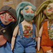 Оригинальные Текстильные куклы Бородачи