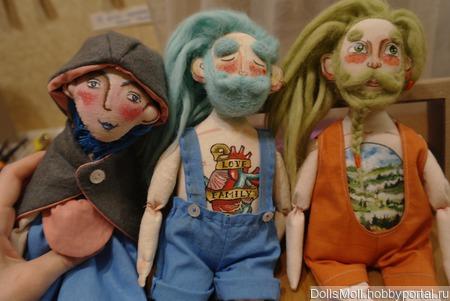 Оригинальные Текстильные куклы Бородачи ручной работы на заказ
