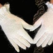 """Перчатки вязаные пуховые """"Нежность"""""""